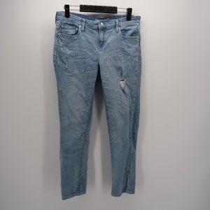 GAP Distressed Girlfriend Slim Ankle Jeans Pants